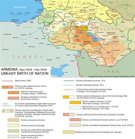 russia map armenia armenia conflicts map