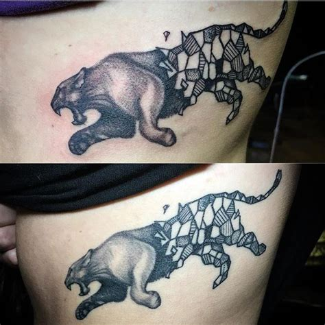 geometric jaguar tattoo geometric panther by javier tamez tattoonow