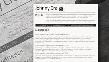 Professional Clean A Basic But Stylish Resume Layout Freesumes Free Stylish Resume Templates