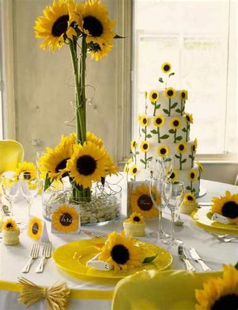 sunflower arrangements ideas beautiful flowers and unique sunflower wedding decorating