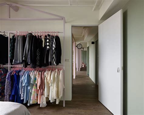 shelves for clothes in bedroom fashion designer s hub in taiwan relies on smart shelving