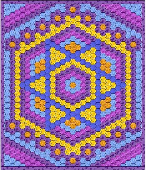 Hexagon Patchwork Blanket - 887 best images about hexagons on grandmothers