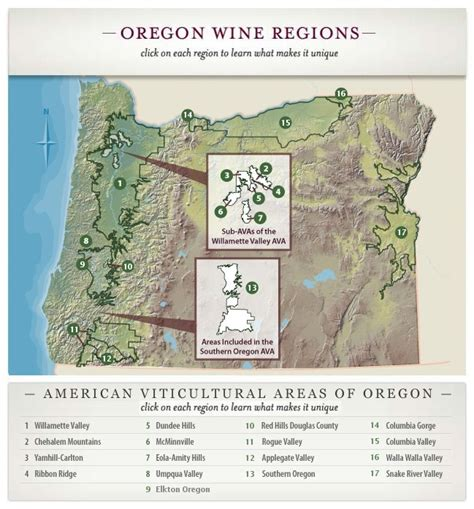 map of oregon regions maps page map your way through pacific northwest wine