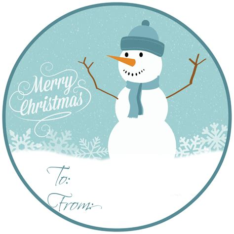 printable snowman gift tags 10 homemade gifts kids and teens will love free gift tags
