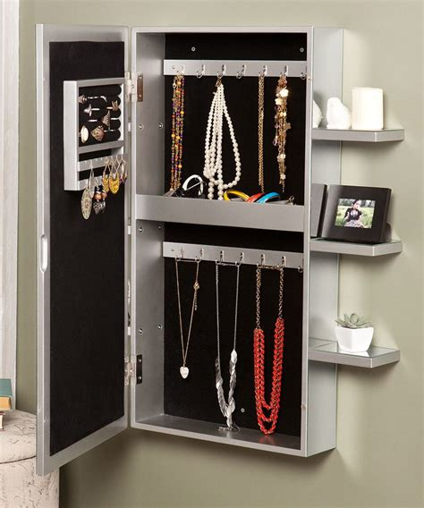 wall hanging jewelry armoire southern enterprises darlington wall mount jewelry armoire