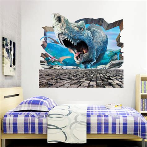 jurassic park bedroom 3d jurassic world park dinosaurs wall stickers for kids