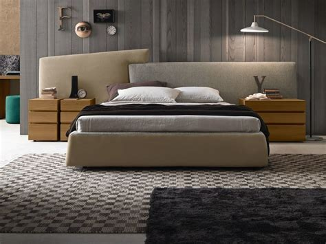 Bed Designs With Cushioned Headboard by Fabric Storage Bed With Upholstered Headboard Wing System