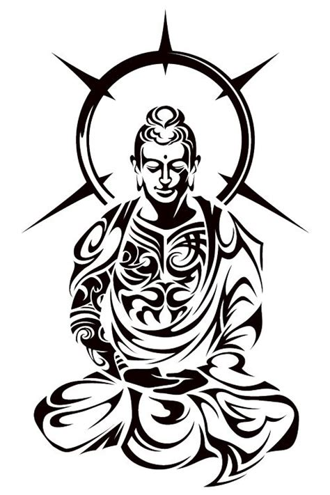 buddhist tribal tattoos buddha tribal by takihisa deviantart on deviantart