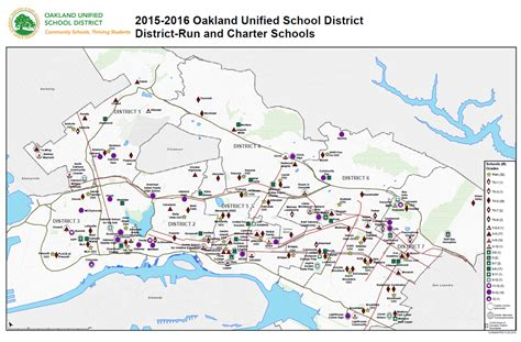 Bay County School Calendar New Oakland Unified School District Map For 2015 16 Now