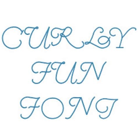 curly pattern font curly fun embroidery font annthegran