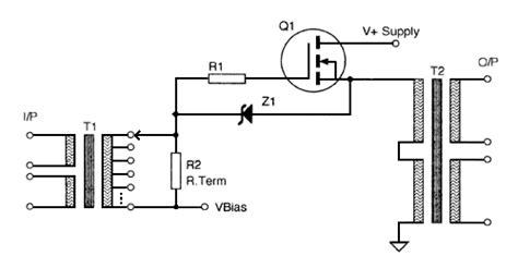 transistor audio driver transformer zero feedback se transformer mosfet audio prelifier line driver