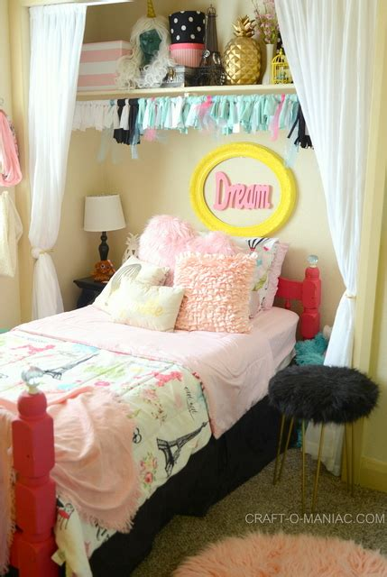 diy bedroom decor for tweens diy put your tween s bed in the closet for more room
