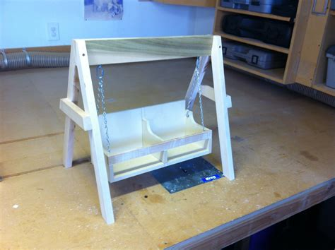 bunk bed with swing doll furniture woodwork by woodbeck