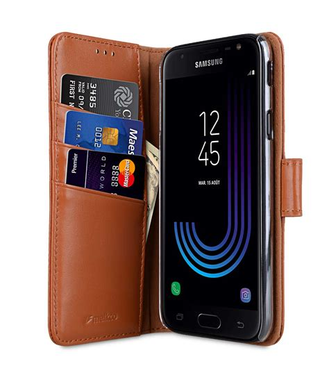 Samsung J7 Max Flip Premium Leather Wallet Casing Cover Dompet samsung galaxy j7 2017 mobile cases cellphone genuine leather flip