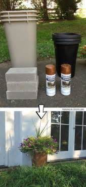 planters diy pedestal planters and washers on pinterest