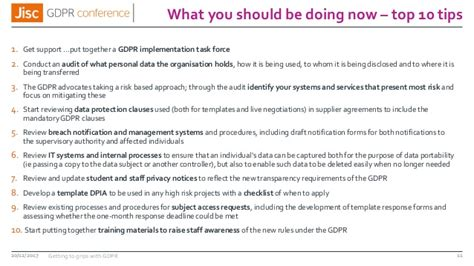 Jisc Gdpr Conference Gdpr Breach Notification Template