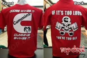 cummins t shirt all sizes dodge truck s 2xl pistons