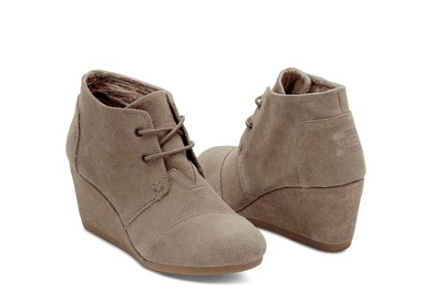 Bots Wedges taupe suede s desert wedges toms 174