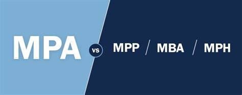Mph Mba Degree by Mpa Degree Comparisons Mpp Vs Mba Vs Mph Mpa Unc