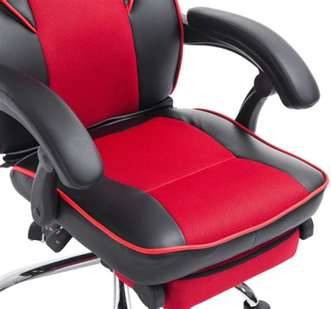 reclining high back booster seat high back office chair gaming swivel race car style pu