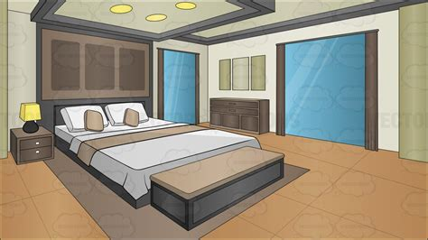 schlafzimmer clipart a modern bedroom background clipart
