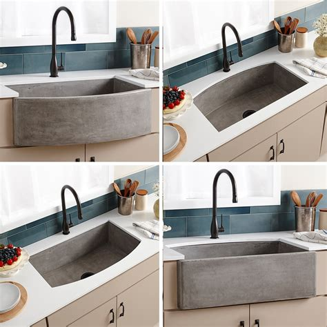 Apron Front Farmhouse Kitchen Sink Trails Nativestone 174 Farmhouse Quartet Curved Apron Front Kitchen Sink
