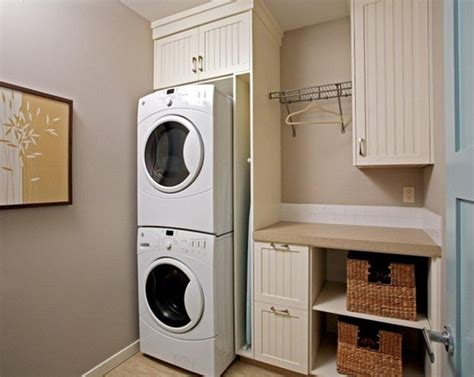 20 Small Laundry Room Makeovers With Small Space Solutions Small Laundry