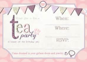 free high tea party invitation templates high tea
