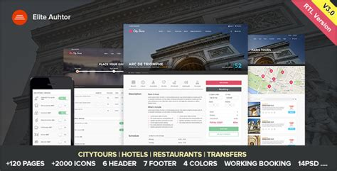 Themeforest Citytours Download City Tours Tour Tickets And Guides Html Template Themeforest Website Templates Free