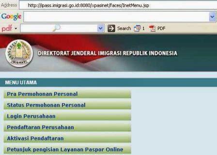 cara membuat paspor online di imigrasi go id tata cara pembuatan paspor online di www imigrasi go id