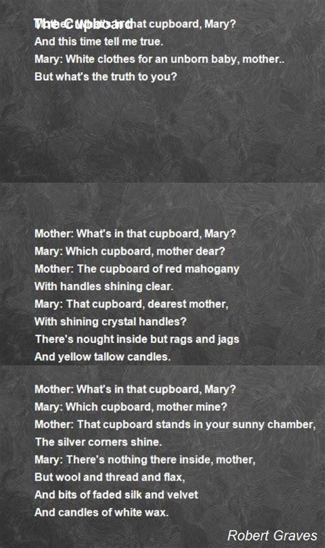 the cupboard poem by robert graves poem hunter
