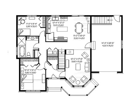 Brady Bunch House Floor Plan by Small House Floor Plans Cottage House Plans