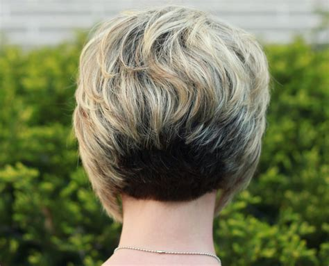 inverted bob hairstyles with back stacked inverted stacked bob haircut back pixels stuff