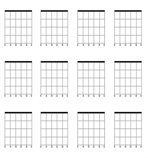 guitar chord chart templates 12 free word pdf