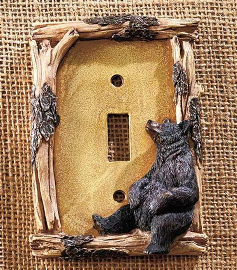 themed light switch covers decorative rustic cabin lodge themed light switch