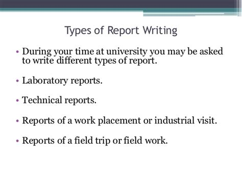 Technical Report Writing Exles Ppt by Report Writing Site