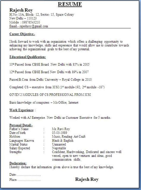 usa cv format download company secretary fresher resume format fresher resume
