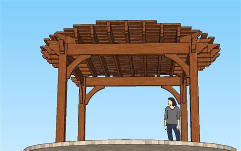 round pergola western timber frame