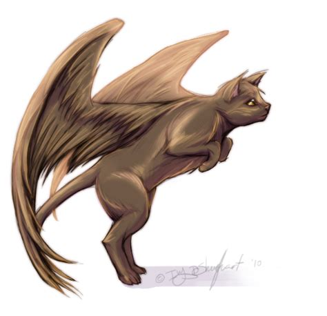 cute anime cat with wings drawings ukitah a cat with wings by mutationivo on deviantart