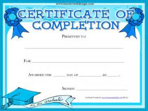 free template certificate of completion completion certificate template free premium