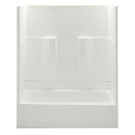 2 piece bathtub aquatic remodeline smooth wall 60 in x 30 in x 72 in 2