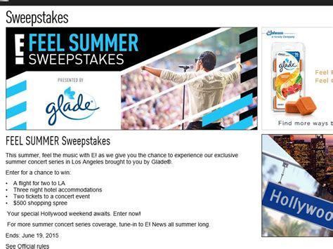 Sweepstakes Fanatics - e online feel summer sweepstakes sweepstakes fanatics