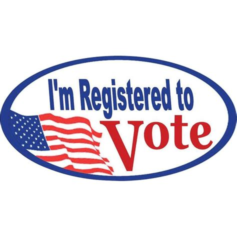 To Vote by Quot I M Registered To Vote Quot Stickers