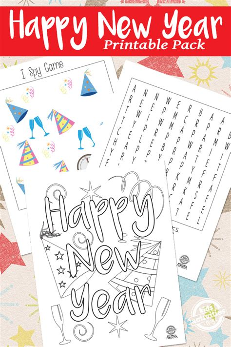 new year activities printable new year printables