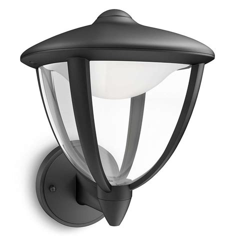 philips outdoor wall lights philips 15470 30 16 robin black led outdoor up lantern