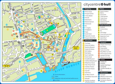map of tourist attractions hull tourist attractions map