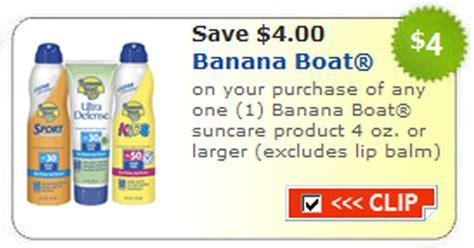 Banana Boat Sunscreen Printable Coupon