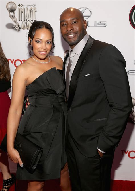 morris chestnut que pam byse photos 45th naacp image awards presented by tv