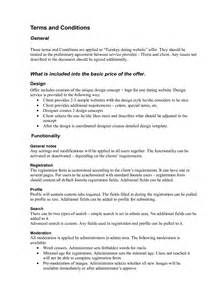 Commercial Terms And Conditions Template term and condition template modern house