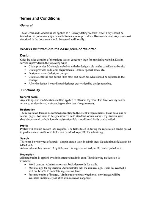 Terms And Conditions Template Cyberuse Website Terms And Conditions Template